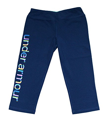 Under Armour Youth Girls Athletic Capri Running Fitted Pants (S 8, Blue)