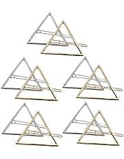 Minimalistyczna spinka do włosów pusty trójkąt metalowy zacisk do włosów geometryczny uchwyt do włosów 10 szt. dekoracja domu
