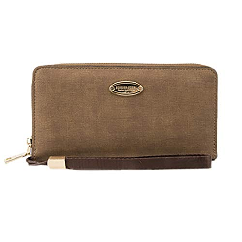 (Mens Genuine Leather Wallet with ID Window and Blocking)