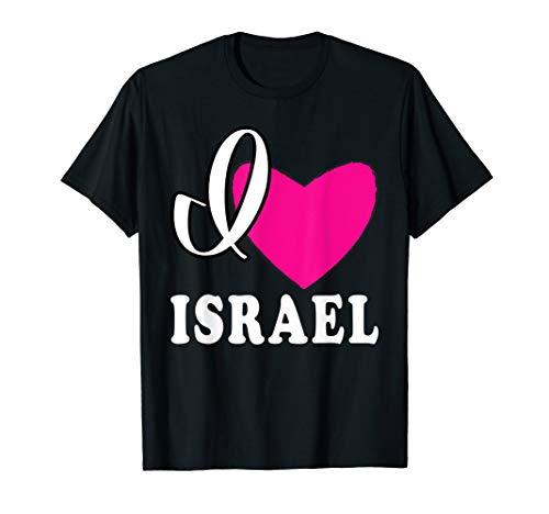 I Love Israel T-Shirt Heart Israel Tee Holy Land Tee Shirt