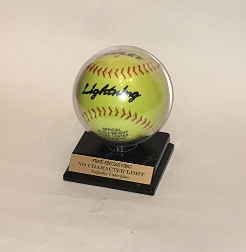 (Keepsakes Under Glass Softball Personalized Acrylic Display Case for 11 inch)