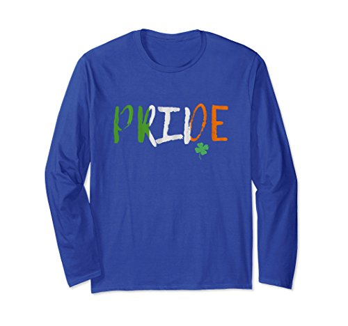 Unisex PRIDE - Irish Clover Shamrock TShirt St. Patricks Day Shirt 2XL Royal Blue Adult Shamrock Tee T-shirt