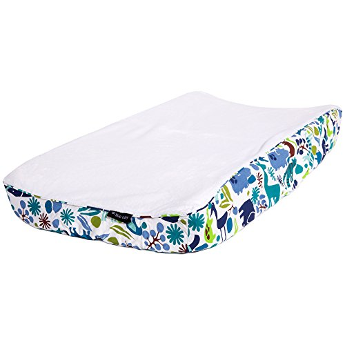 Ah Goo Baby 100% Cotton Changing Pad Cover, Universal Size, Zoo Frenzy Pattern