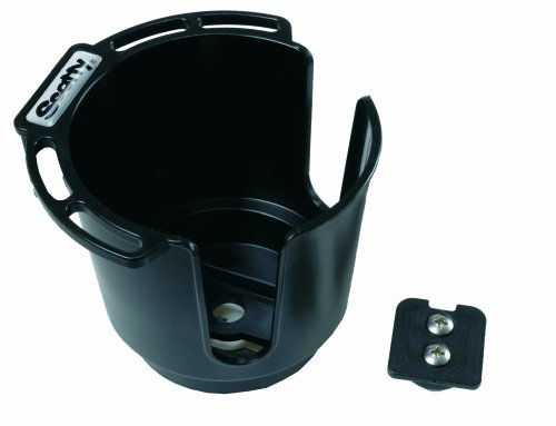 Scotty Drink Holder with Bulkhead/Gunnel Mount (Black)
