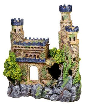 exotic environments medieval castle with metallic blue tops