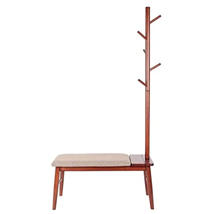 Amazon.com: Yilian yimaojia Solid Wood Shoes Bench Coat Rack ...