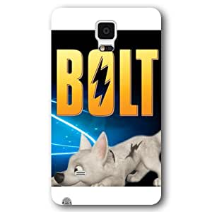 Customized White Frosted Disney Cartoon Movie Bolt Samsung Galaxy Note 4 Case