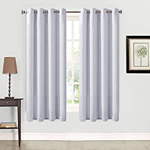 Balichun 2 panles blackout curtains thermal insulated grommets drapes for bedroom - Amazon curtains living room ...