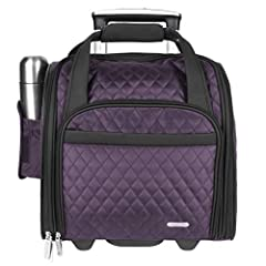 This lightweight Carry-on has it all including a matching tote that folds to store in a side pocket. Use to carry souvenirs home or whenever you need a little more space. This carry-on is uniquely dome-shaped to provide easy access and a comf...