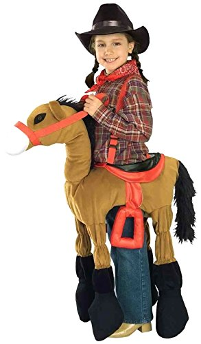Halloween Costumes For Horse (Forum Novelties Children's Costume Ride A Pony - Brown, Size-Medium)