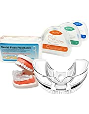 Orthodontic Retainers, 3-Stage Professional Teeth Straightener Retainer Contain 50 Pcs Floss Full Protection from Sleeping at Night to Sports at Daytime