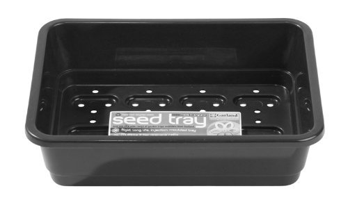Garland GAL50HHB6 Standard Half-Size Seed Trays with Holes - Black (6-Piece)