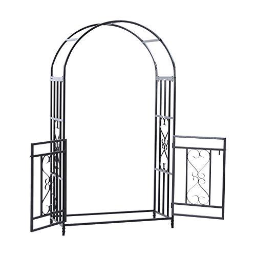 MRT SUPPLY 4ft x 7ft Metal Garden Arch Backyard Bridal Archway Wedding Decoration with Ebook