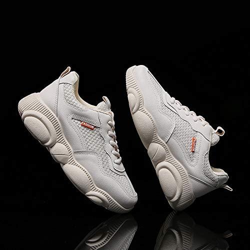 mode baskets pied course de pour confortables de chaussures forme femmes respirantes à chaussures la les Bottes Beige avec plate compensées bottes nF0wnPaSq
