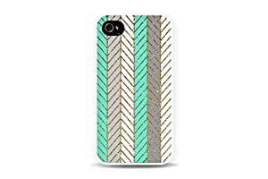 DECO FAIRY? Glitter Chevron Mint Green Snap on Case Cover for Apple iPhone 5 5S