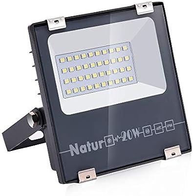 Natur 20W LED Foco Exterior alto brillo 2000LM,Impermeable IP66 ...