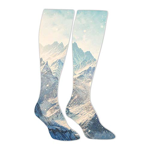 Knee High Stockings Winter Snow Mountain Long Socks Sports Athletic for Man and Women ()