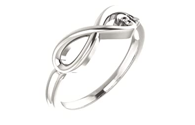Jewels By Lux 925 Sterling Silver Infinity-Inspired Heart Ring Size 7