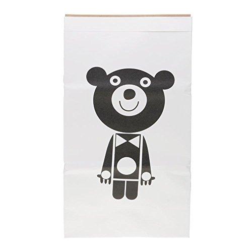 VANKER papel de Kraft el bolso del almacenaje El bebé embroma el bolso grande del organizador del juguete -- Estrellas Marioneta oso