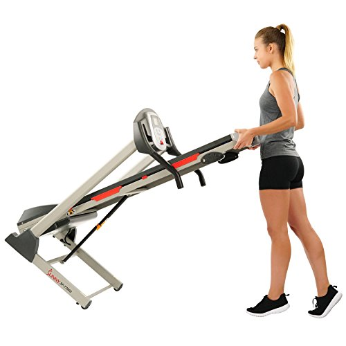 Sunny Health & Fitness SF-T7603 Electric Treadmill w/ 9 Programs, 3 Manual Incline, Easy Handrail Controls & Preset Button Speeds, Soft Drop System by Sunny Health & Fitness (Image #8)