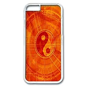 Custom Case with Yin Yang Personalized Back Snap On Case for iPhone 6 4.7 PC Transparent
