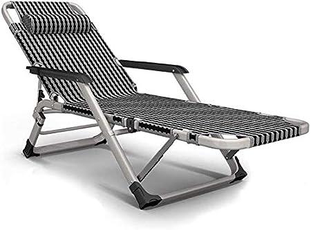 ADHW Reclinable, sillas reclinables Exterior, jardín al Aire Libre Mecedora Silla de relajación, Fundas de Cojines sillón reclinable, Plegable Silla de jardín (Color : Grey): Amazon.es: Hogar