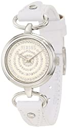 Versus by Versace Women's 3C68200000 Versus V White Crystal Dial Genuine Leather Watch