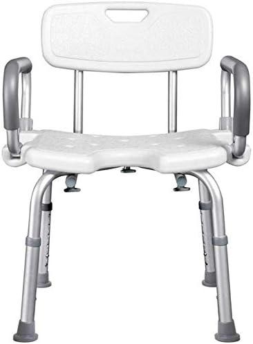 WYJW Duschstuhl Shower StoLightweight Höhenverstellbar, Badsitz Duschstuhl, Badehilfe für Senioren, Behinderte...