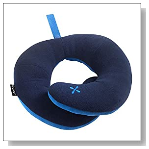 BCOZZY Chin Supporting Travel Pillow (Adult Size). Supports The Head Neck and Chin in Any Sitting Position When Traveling and at Home. Soft and Cozy. Multiple Ways to use. US Patented. Navy