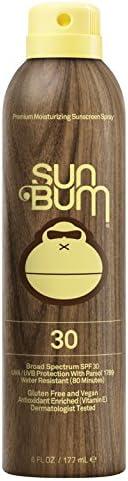 Sun Bum Original Sunscreen Spray   Vegan and Reef Friendly (Octinoxate & Oxybenzone Free) Broad Spectrum Moisturizing UVA/UV