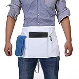 BOHARERS Waist Apron with 3 Pockets - White