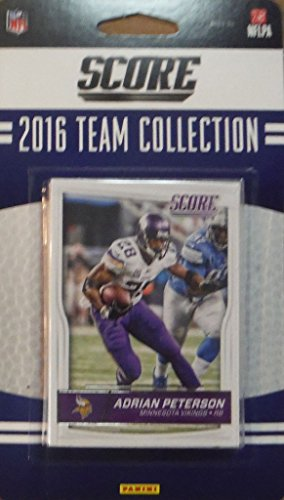 Minnesota Vikings 2016 Score EXCLUSIVE Factory Sealed Team Set with Adrian Peterson, Teddy Bridgewater, Laquon Treadwell Rookie plus - Exclusive Teddy