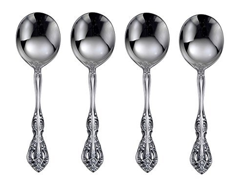 (Oneida Michelangelo Round Bowl Soup Spoons, Set of 4)