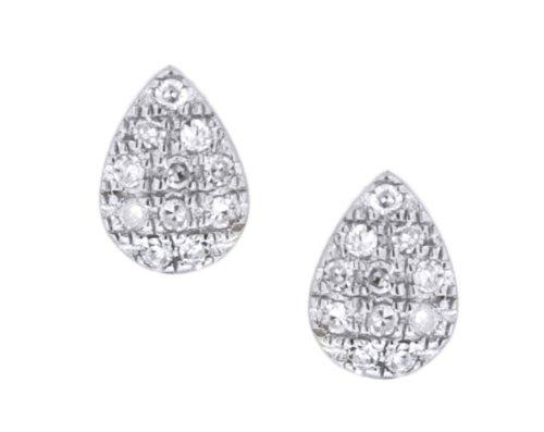 Carissima Gold - Boucles d'oreilles - Femme - Or blanc 375/1000 (9 cts) 0.58 gr - Diamant