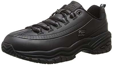 Skechers for Work Women's Soft Stride-Softie Lace-Up, Black, 5 B - Medium