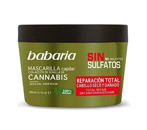 Babaria Cannabis Mascarilla Reparadora, 200 ml: Amazon.es