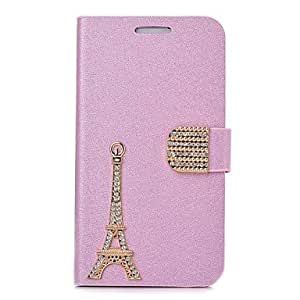 ZL Fashion PU Leather Iron Tower Diamond Full Body Case with Stand for SAMSUNG GALAXY S4 I9500 , Pink