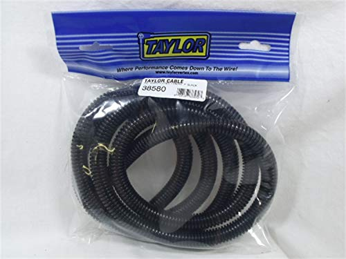 Taylor Cable 38580 Black Convoluted Tubing