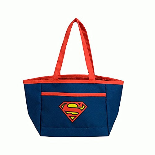 (Superman Christmas Novelty Bag by DC Comics | Superhero Reusable Tote Bag with Handles for Candy Treats & Goodies)