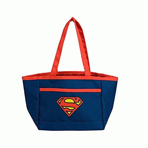 Superman Christmas Novelty Bag by DC Comics | Superhero Reusable Tote Bag with Handles for Candy Treats &