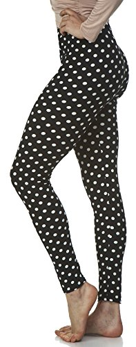(LMB Lush Moda Extra Soft Leggings with Designs High Yoga Waist - Variety of Prints - 721YF Polka Dot B5 )