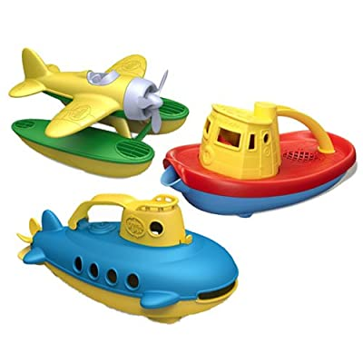 Green Toys Water Vehicle Bundle - Yellow: Toys & Games
