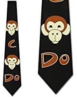 Monkey See Monkey Do Tie Men Neck Ties by Ralph Marlin