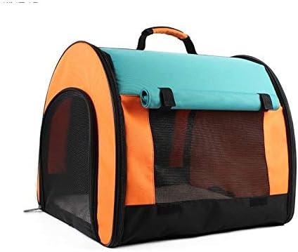 ペットの袋、 ペットバッグ、軽量特殊布、メッシュ通気性のソフトで快適な、折りたたみ式ポータブルペットバッグ、小動物の移動に適した47 * 41 * 41 cm