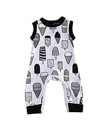 Baby Boys Girls Ice Cream Cake Romper Bodysuit Pajamas Sleeper Coveralls Outfit