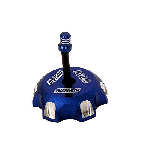 Outlaw Racing 12079 Billet Anodized Gas Fuel Tank Cap With Vent Hose Blue CR85/125R - Blue Billet Gas Cap