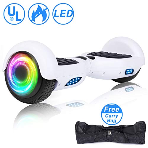 SISIGAD Hoverboard, Self Balancing Hoverboard, 6.5' Two-Wheel Self Balancing Scooter, Smart Hover Board for Kids Gift, Adult Electric Scooter, with LED Lights and Free Carrying Bag UL2272 Certified