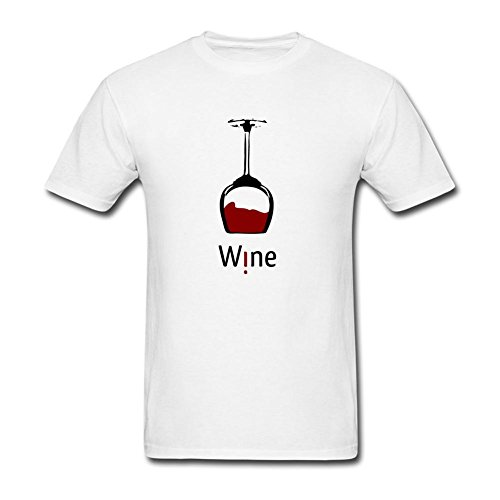 Heerinsy Men's Art Wine Glass Design Color Short Sleeve T-Shirt XL (Kirby Wine Glasses compare prices)