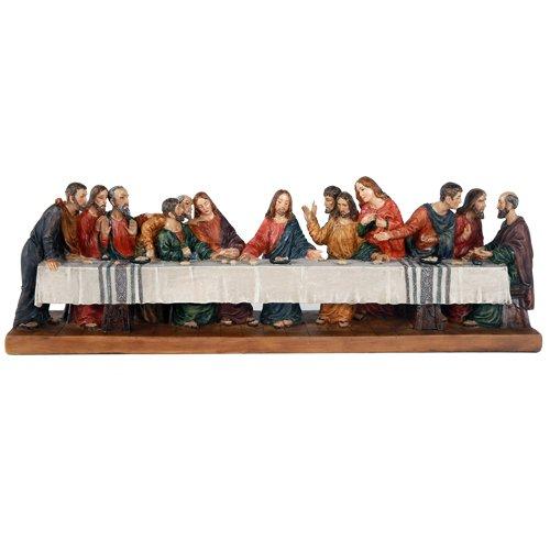 Pacific Giftware The Last Supper Da Vinci Inspiration Tabeltop Figurine Decorative Gift 12 inch L