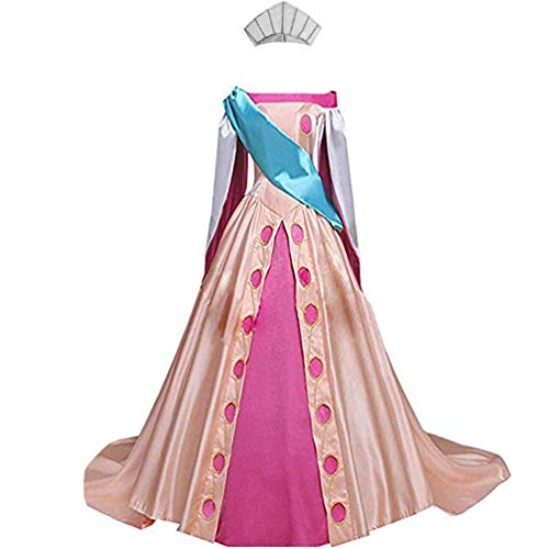 AGLAYOUPIN Anime Girl Princess Cosplay Fancy Flower Dress Halloween Pink